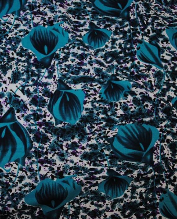 """Ткань Штапель """"Коалы"""" 042 цвет разноцветный цветочный картинка 1"""