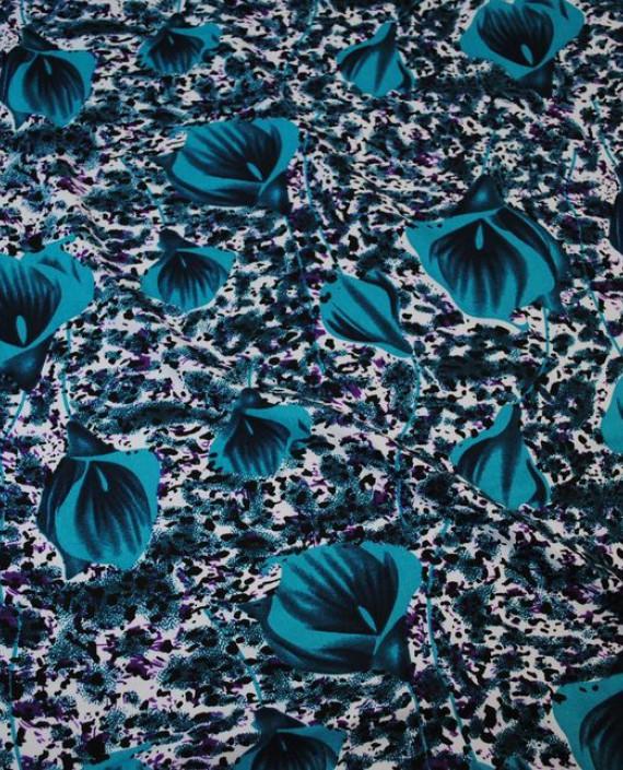 """Ткань Штапель """"Коалы"""" 042 цвет разноцветный цветочный картинка 2"""