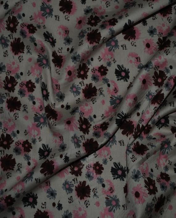 """Ткань Штапель """"Цветы - 8"""" картинка 1"""