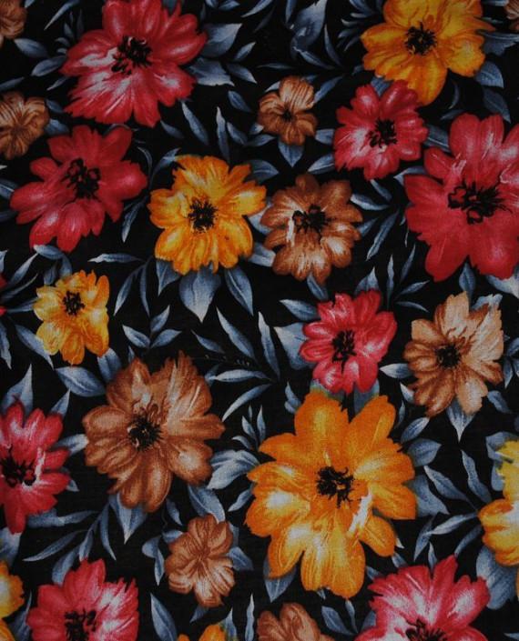 "Ткань Штапель ""Цветы - 15"" 015 цвет серый цветочный картинка"