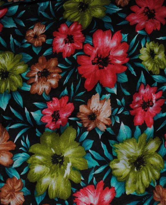 """Ткань Штапель """"Цветы - 16"""" 016 цвет разноцветный цветочный картинка 1"""