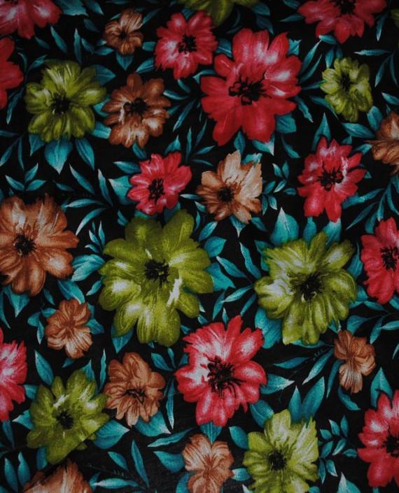 """Ткань Штапель """"Цветы - 16"""" 016 цвет разноцветный цветочный картинка 2"""