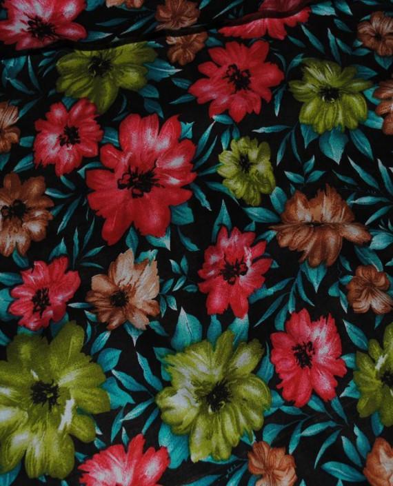 """Ткань Штапель """"Цветы - 16"""" 016 цвет разноцветный цветочный картинка 3"""