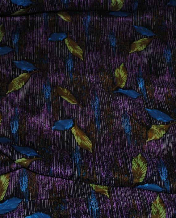 "Ткань Штапель ""Цветы - 25"" 025 цвет фиолетовый абстрактный картинка"