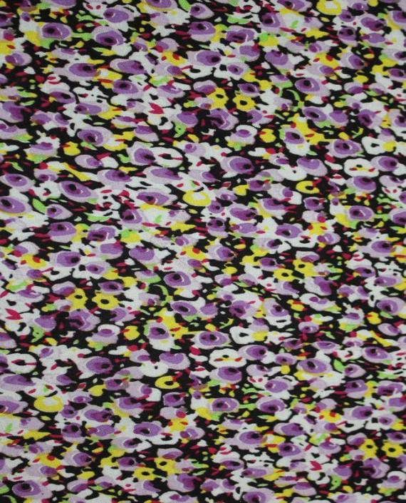 """Ткань Штапель """"Поле"""" 005 цвет разноцветный цветочный картинка"""