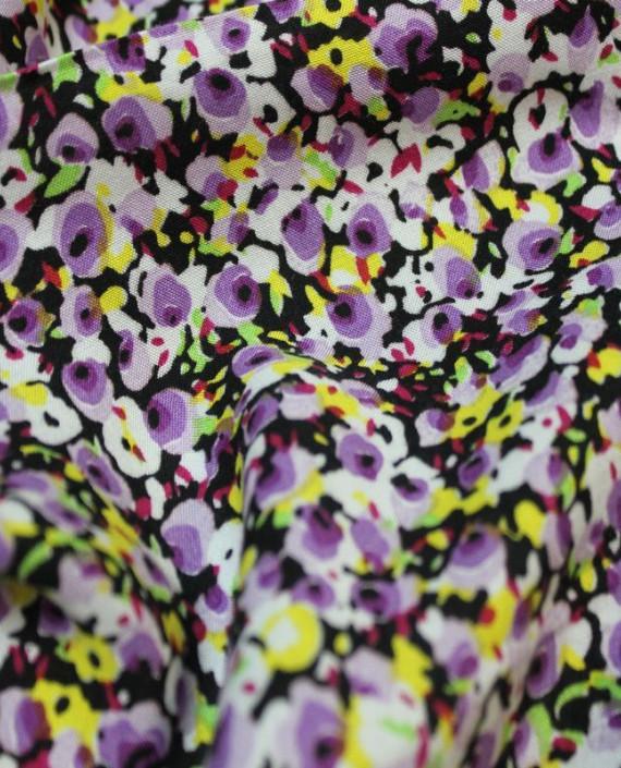 """Ткань Штапель """"Поле"""" 005 цвет разноцветный цветочный картинка 1"""