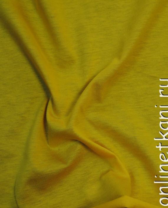 """Ткань Трикотаж """"Желтый"""" 0015 цвет желтый картинка"""