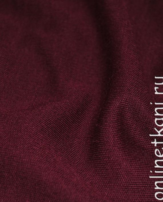 """Ткань Трикотаж """"Бурый"""" 0005 цвет бордовый картинка 1"""