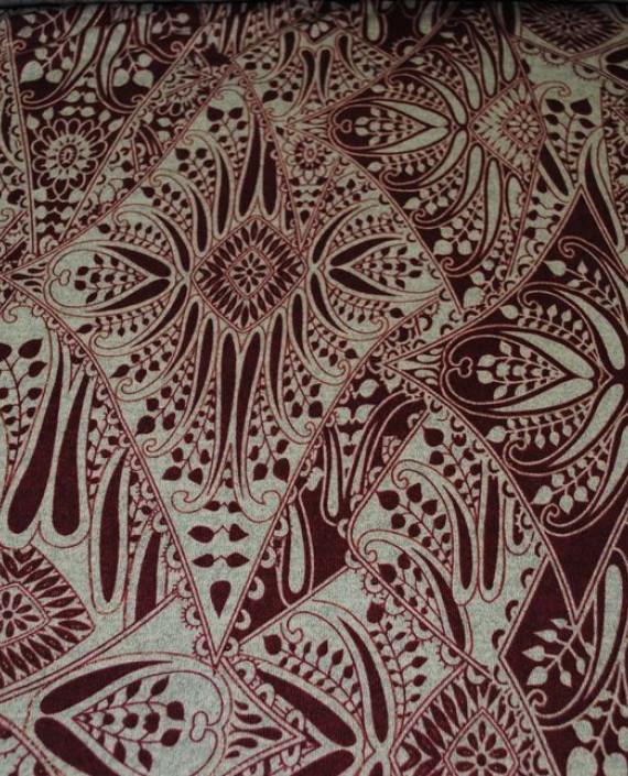 """Ткань Трикотаж """"Орнамент"""" 0002 цвет айвори абстрактный картинка"""