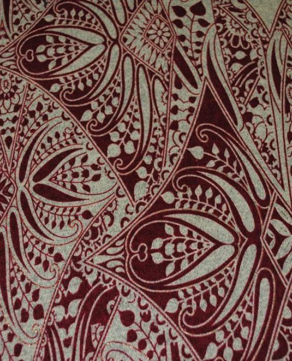 """Ткань Трикотаж """"Орнамент"""" 0002 цвет айвори абстрактный картинка 1"""