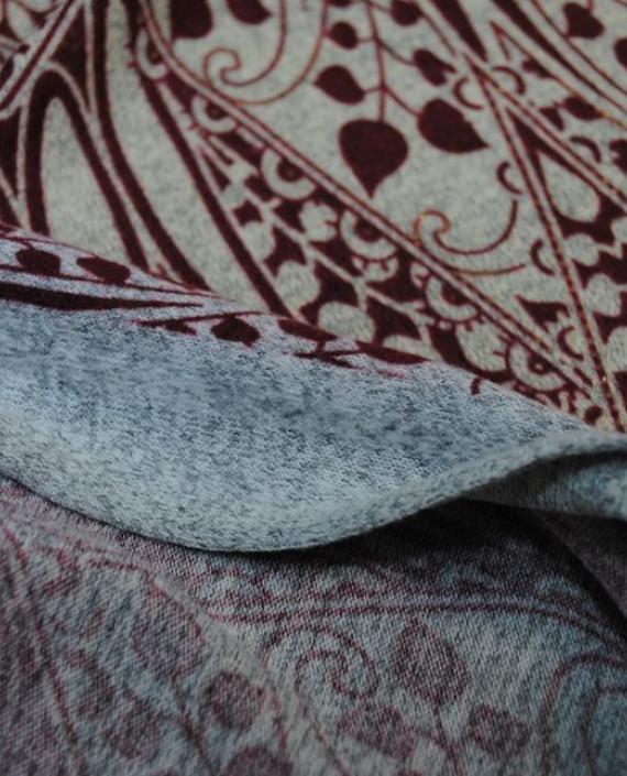 """Ткань Трикотаж """"Орнамент"""" 0002 цвет айвори абстрактный картинка 2"""