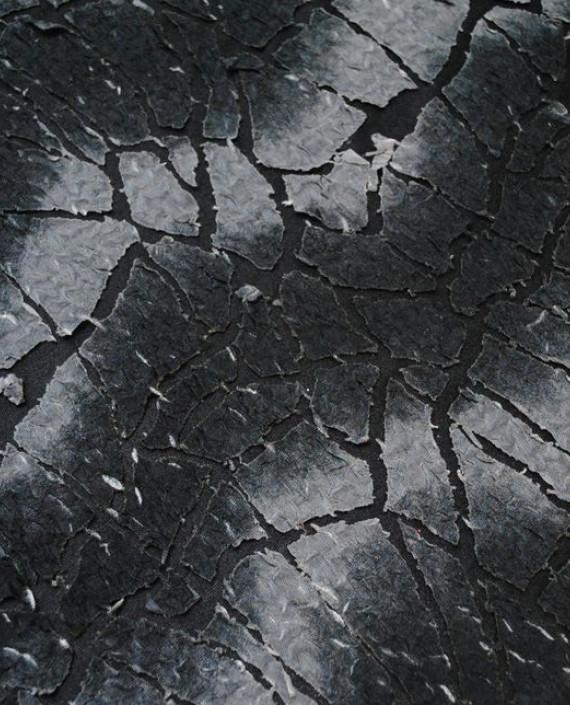 "Ткань Трикотаж ""Трещины"" 0004 цвет серый абстрактный картинка"