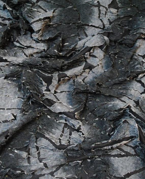 "Ткань Трикотаж ""Трещины"" 0004 цвет серый абстрактный картинка 1"