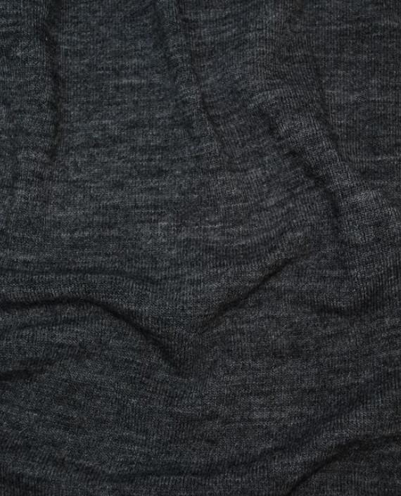 """Ткань Трикотаж """"Антрацит"""" 0001 цвет серый меланж картинка"""