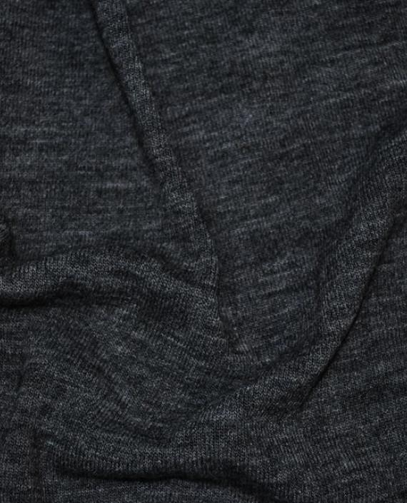 """Ткань Трикотаж """"Антрацит"""" 0001 цвет серый меланж картинка 1"""