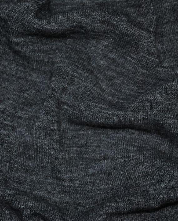 """Ткань Трикотаж """"Антрацит"""" 0001 цвет серый меланж картинка 2"""