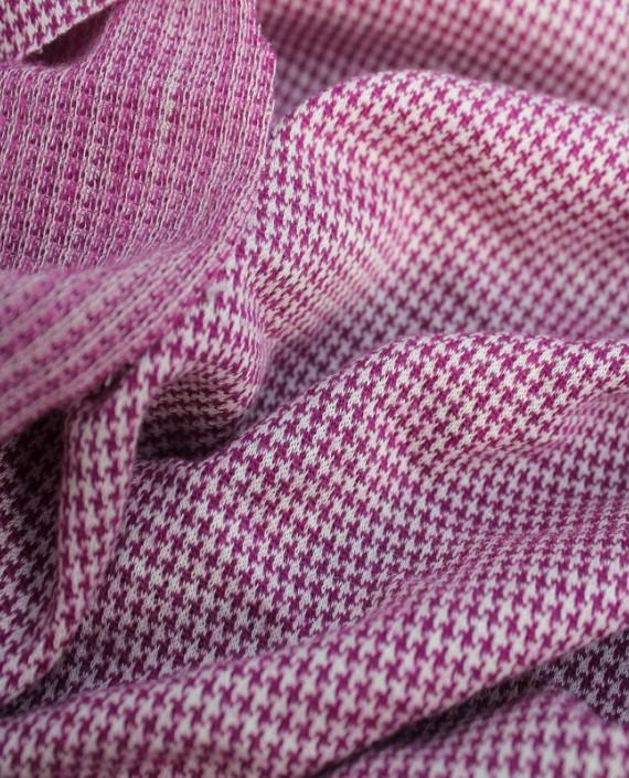 """Ткань Трикотаж """"Гусиная лапка"""" 0002 цвет розовый гусиная лапка картинка 1"""
