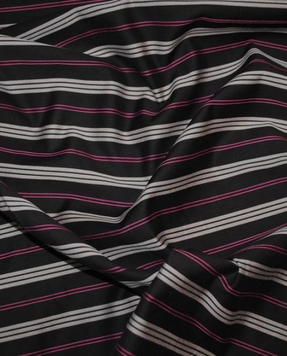 """Ткань """"Коричневая полоска"""" 0003 цвет черный в полоску картинка"""