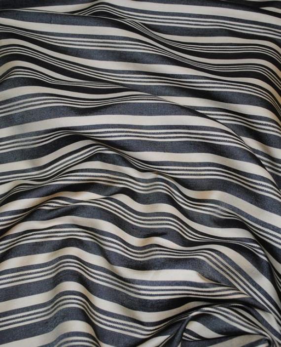 """Ткань """"Полосатая"""" 0004 цвет серый в полоску картинка"""